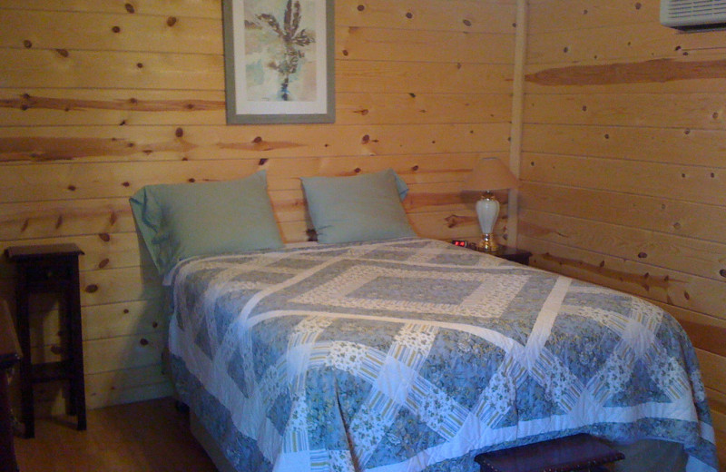Guest bedroom at Rancho Cortez.