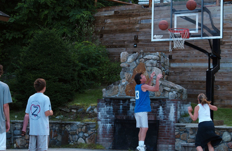 Basketball at Trout House Village Resort.