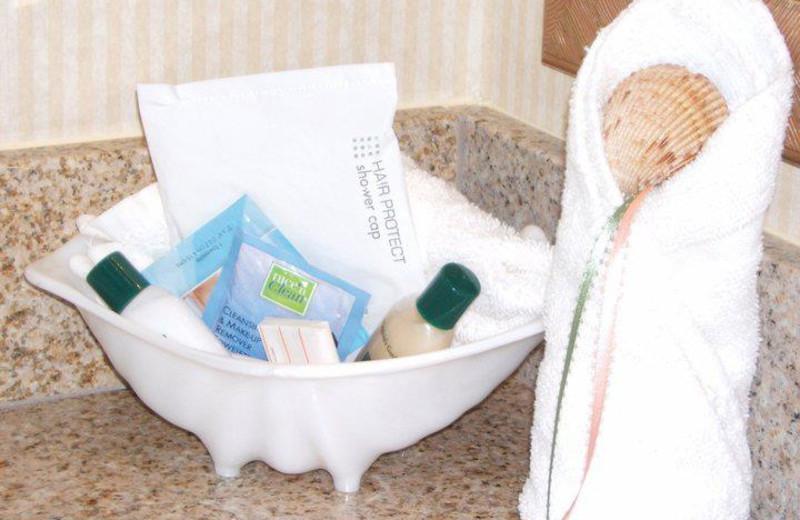 Bathroom amenities at The Villas of Hatteras Landing.