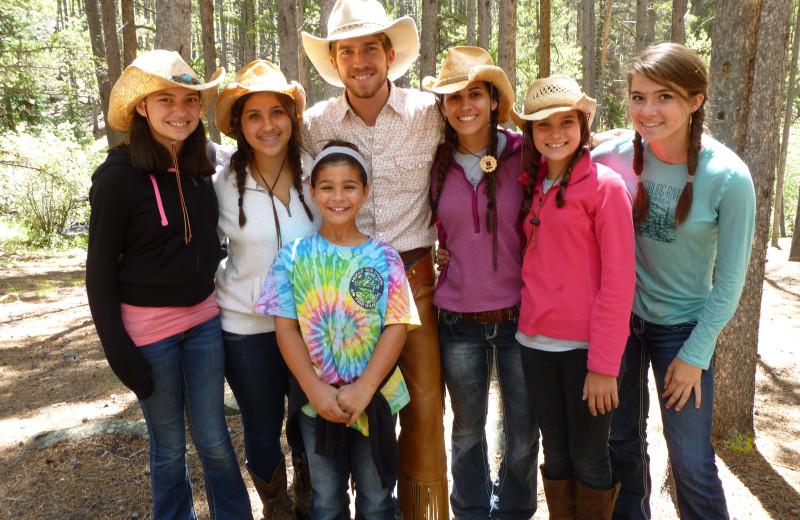 Group at Tumbling River Ranch.