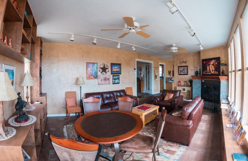 Living room at SkyRidge Inn.
