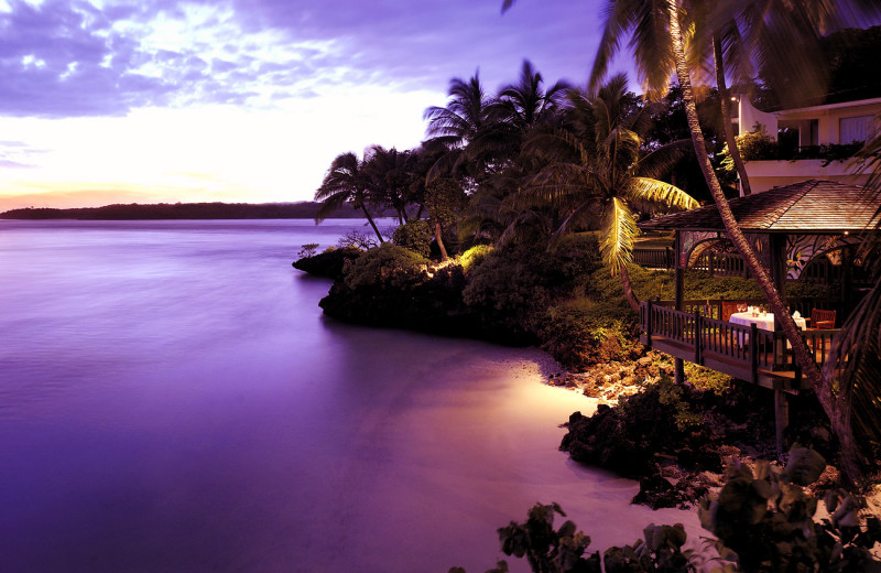 Exterior view of Shangri-La's Fijian Resort.