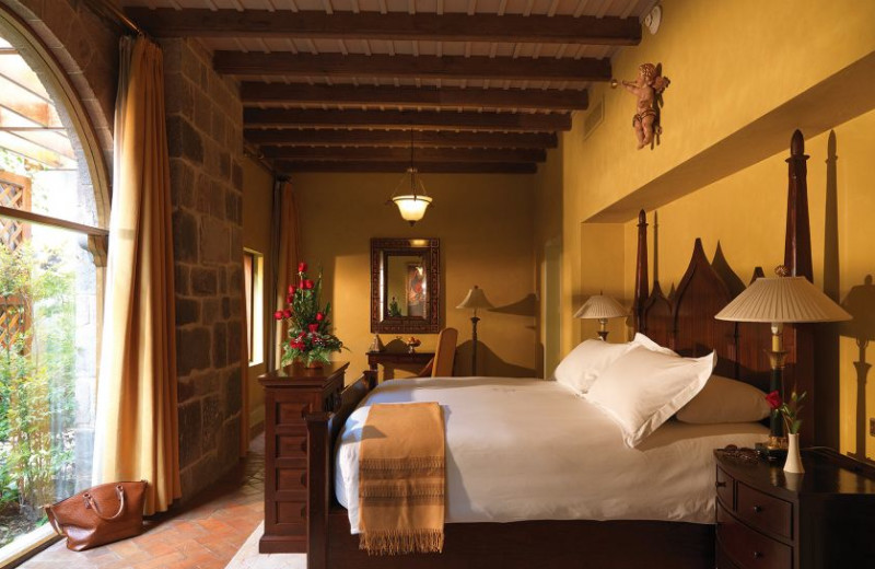 Guest room at Hotel Monasterio.