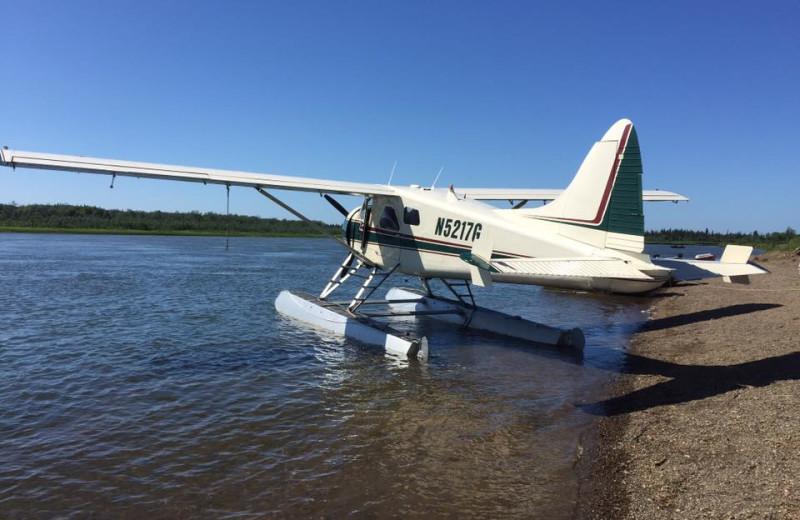 Plane at Nushagak River Adventure Lodge.