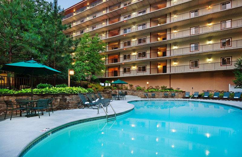 Outdoor pool at Holiday Inn Club Vacations Smoky Mountain Resort.