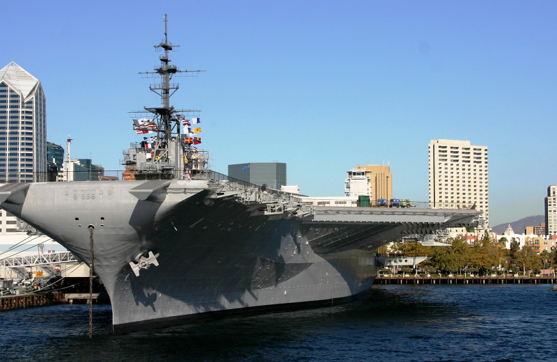USS Midway near Town and Country Resort & Convention Center.