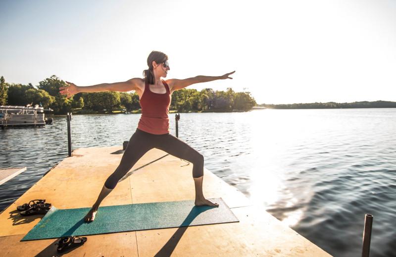 Yoga at Ruttger's Bay Lake Lodge.