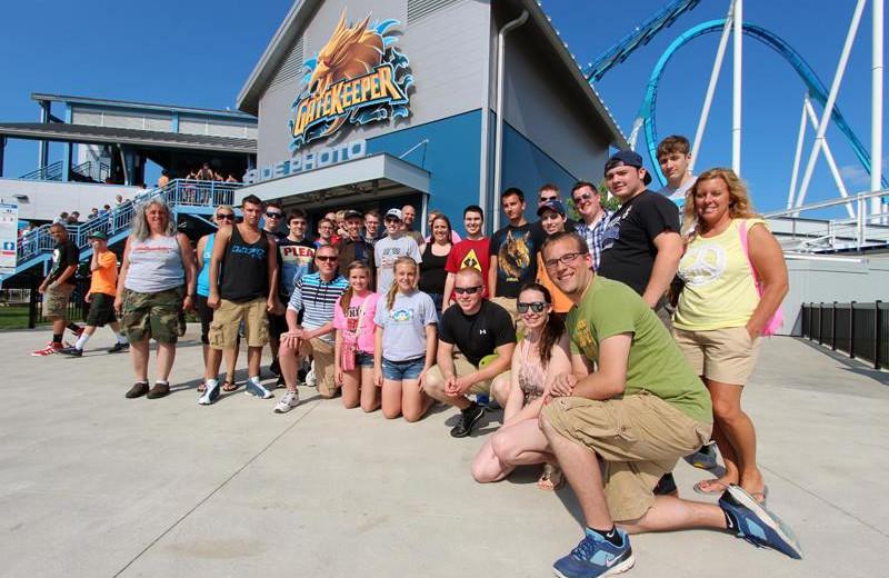 Family at Cedar Point Resort.