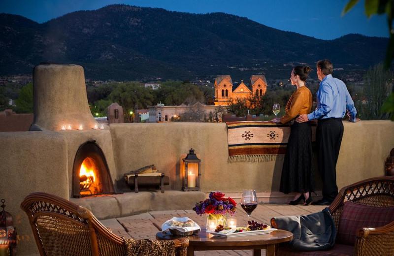 Patio view at Eldorado Hotel.