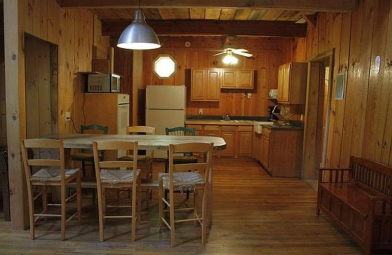 Cabin kitchen at Red River Gorge Cabin Company.