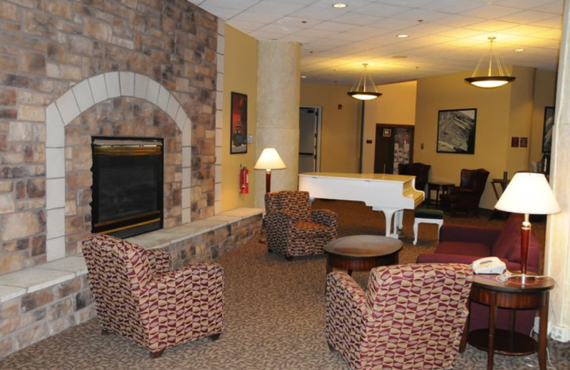 The lobby at The Suites Hotel at Waterfront Plaza.