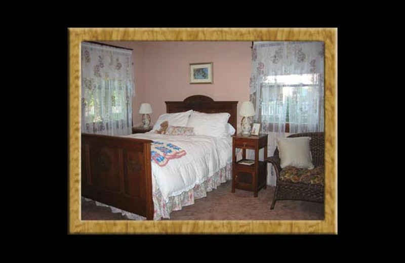 Guest room at Sweet Virginia's Bed and Breakfast.
