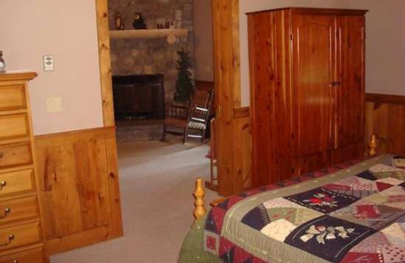 Guest Suite with Fireplace at Camp Wildlife | On Mirror Lake