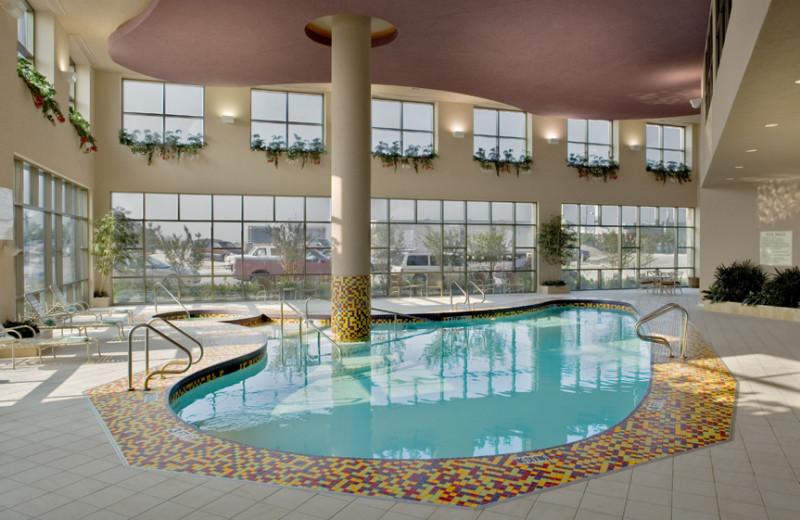 Indoor pool at Embassy Suites Dallas.