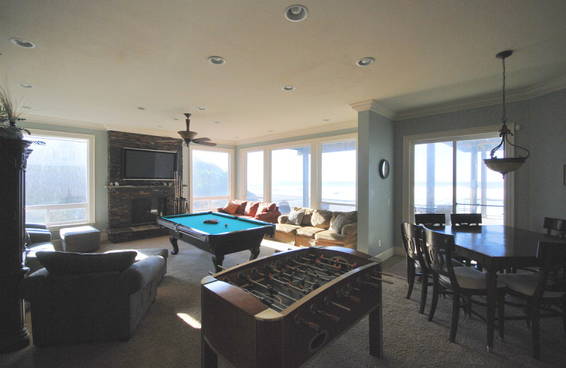 Recreation room at Admiral's Beach Retreat.