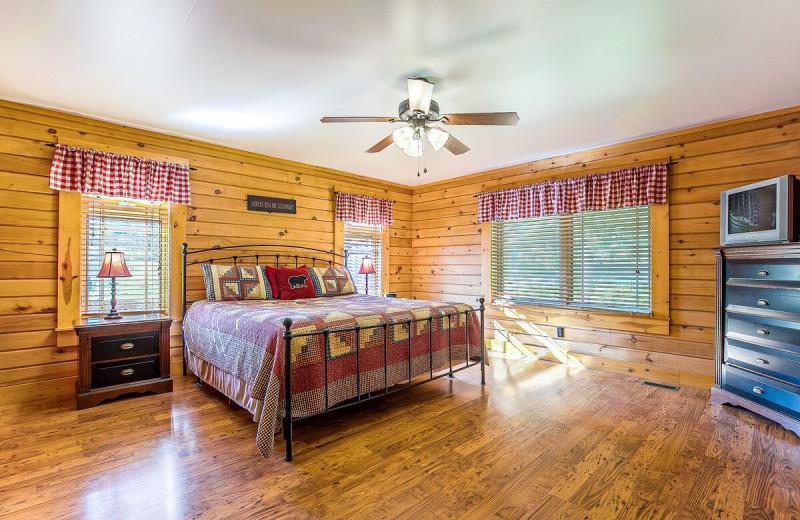 Rental bedroom at Railey Vacations.