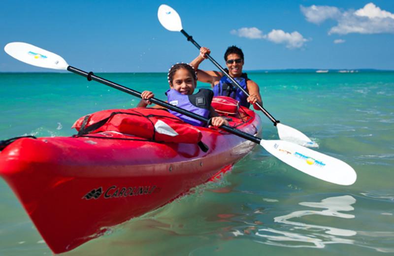 Kayaking at The Homestead.