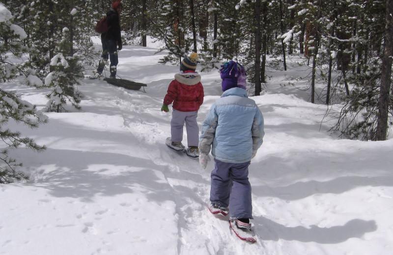 Snow shoe at Black Bear Lodge.
