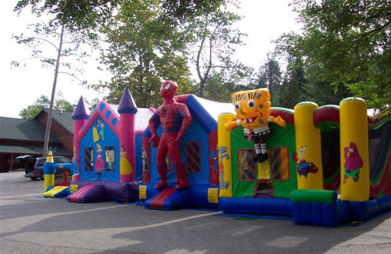 Bounce houses at Big Bear Adventures.