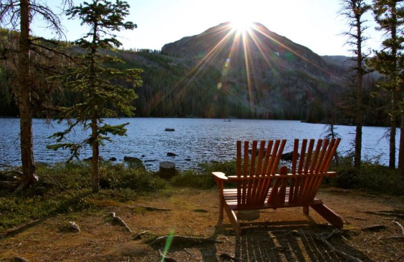 Lake view at Cathedral Lakes Lodge.
