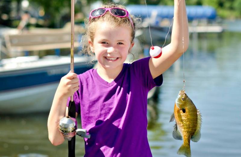 Fishing at Ten Mile Lake Resort.