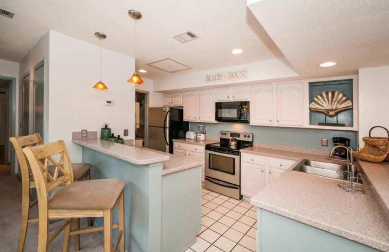 Rental kitchen at Destin Getaways.