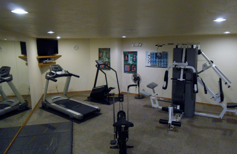 Fitness room at Pheasant Park Resort.
