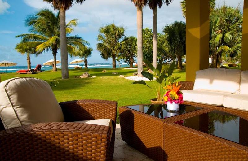 Patio at Villa Montana Beach Resort.