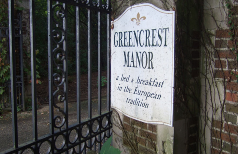 Greencrest Manor Sign at Greencrest Manor
