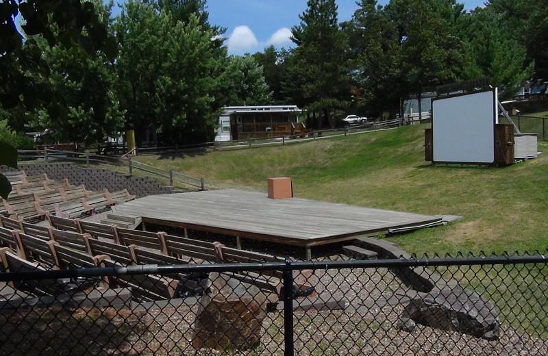 Outdoor theater at Yogi Bear's Jellystone Park Warrens.
