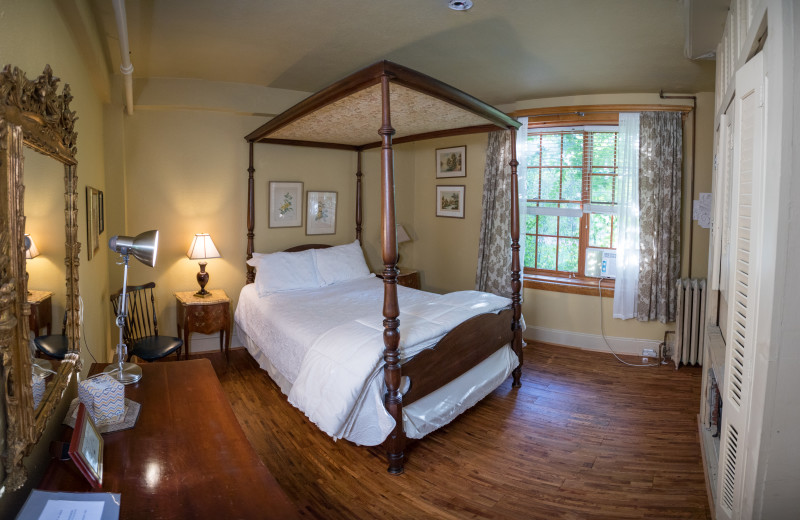 Guest room at The Outing Lodge at Pine Point.