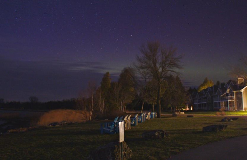 Night Sky at Baileys Harbor Yacht Club Resort