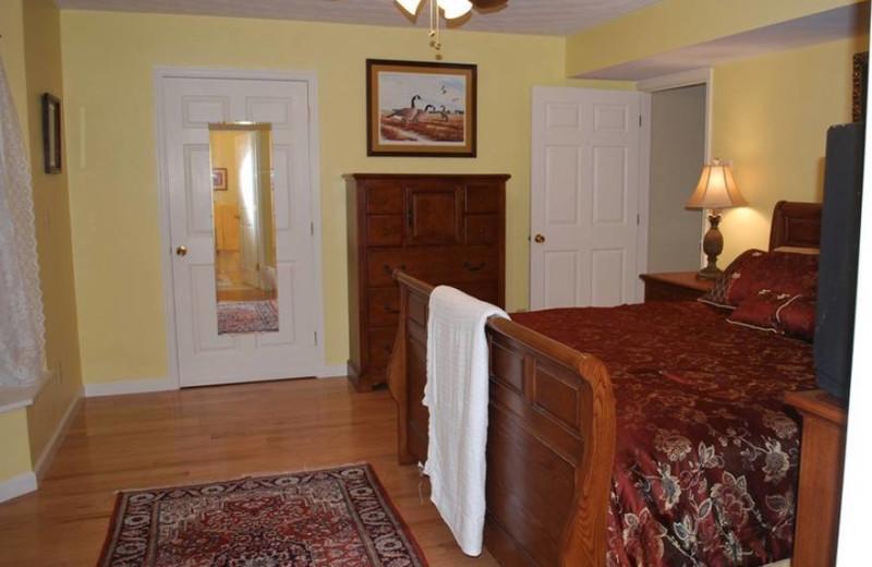 Guest room at Big Pine Trout Farm.