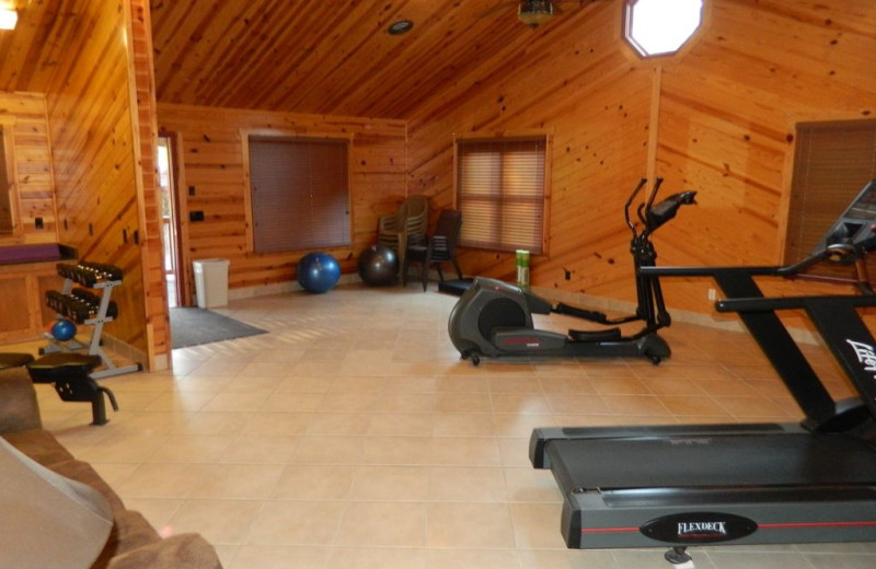 Fitness room at White Oak Lodge & Resort.
