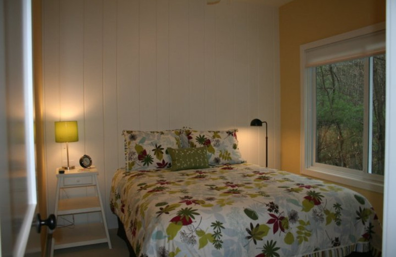 Vacation rental bedroom at The Beach House.