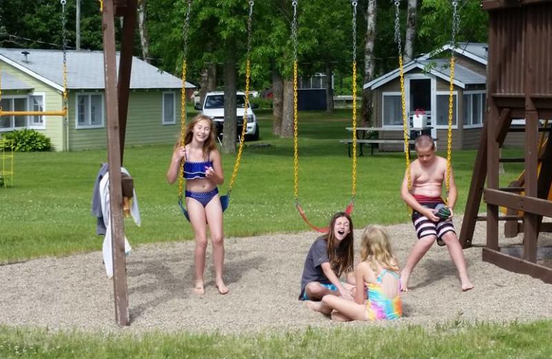 Kids at Oak Park Resort.