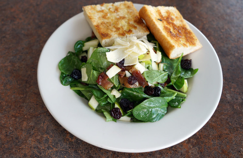 For light dining, check out the Apple Spinach Salad at the Carrington Pub & Grill (at the Landmark Resort).