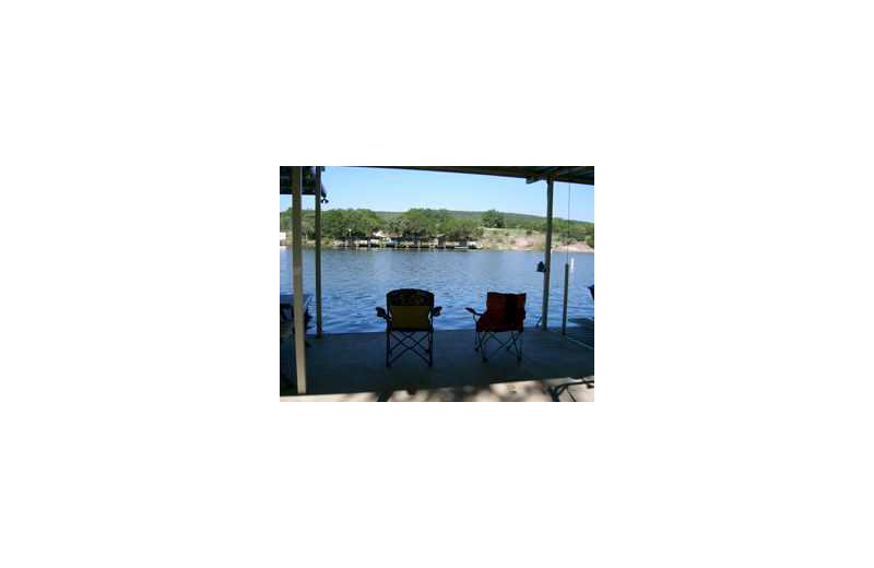 Lake view at Loch Lone Star on Lake LBJ.