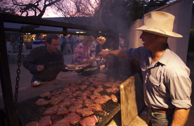 Dining at Elkhorn Ranch.