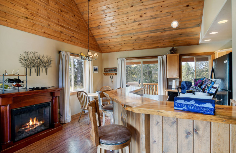 Cabin kitchen at Gentry River Ranch.