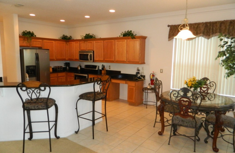 Rental kitchen at Florida Palms Vacation Villas