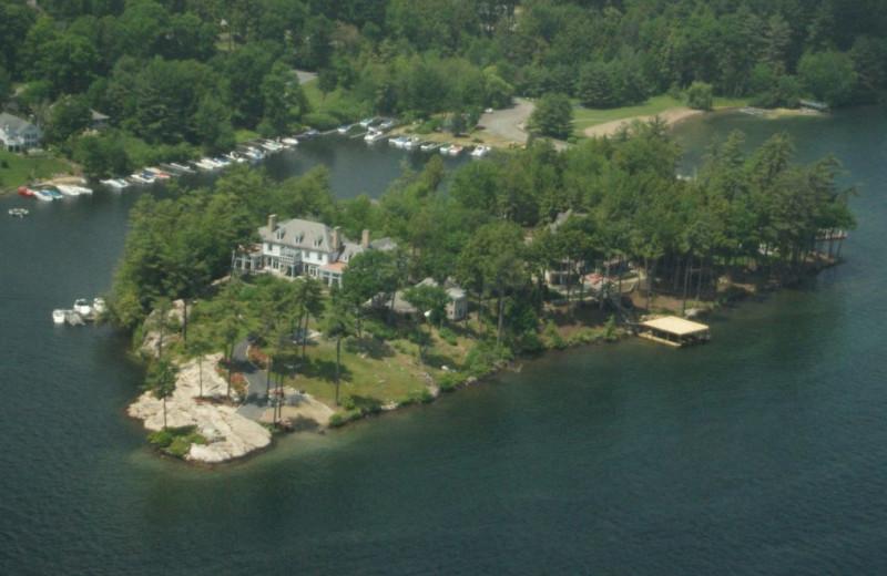 Aerial view of The Depe Dene Resort.