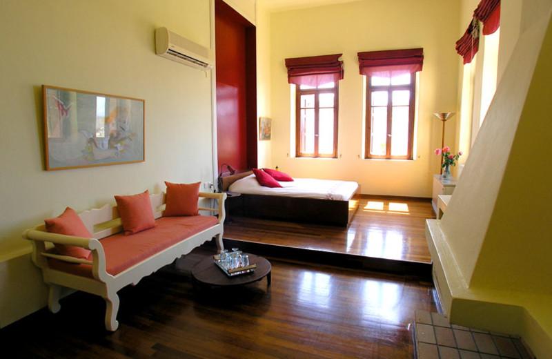 Guest room at Villa Maroulas.