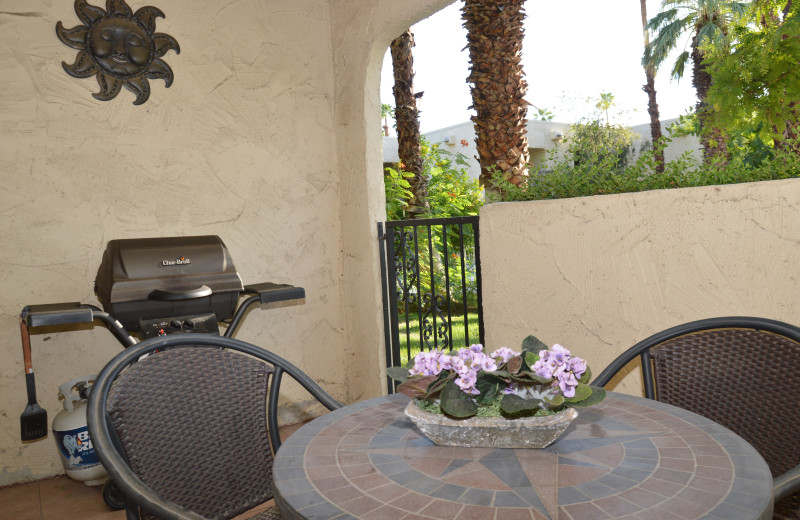 Rental patio at Padzu Vacation Homes - Palm Springs