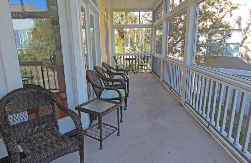 Rental porch at Island Realty.