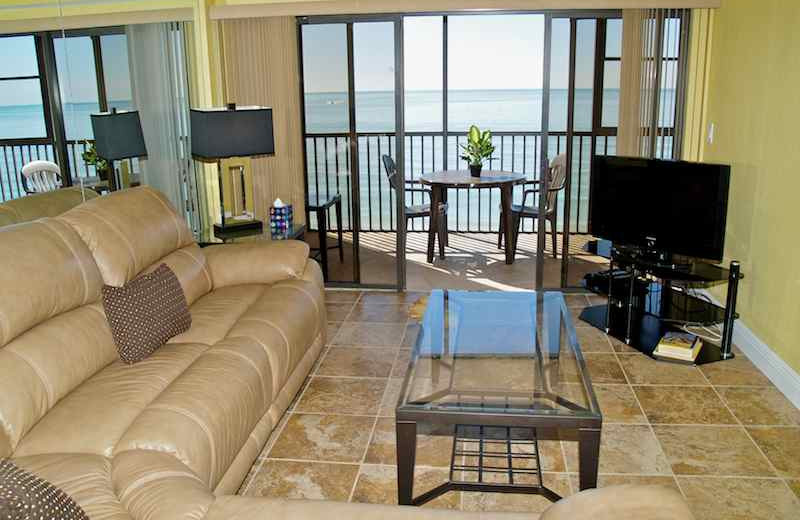 Living room at Resort Rentals.