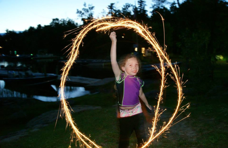 Sparklers at Glenwood Lodge.