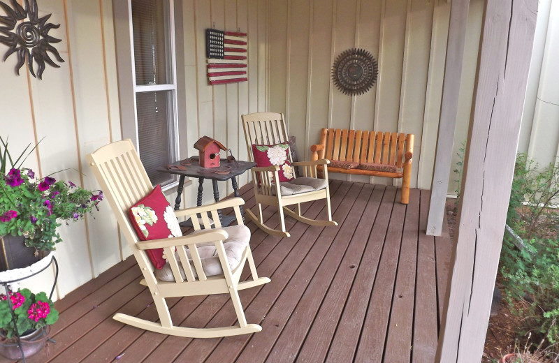 Porch at SkyRidge Inn.