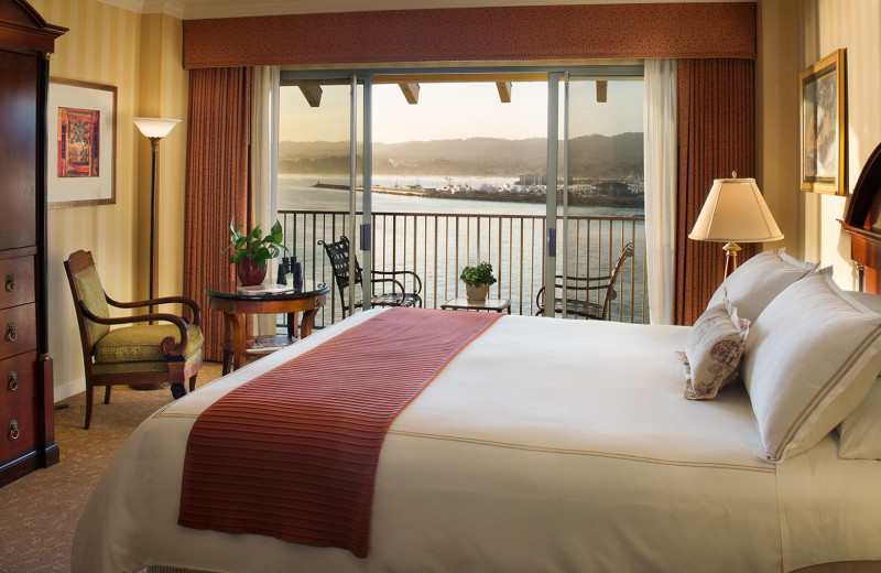 Enjoy beautiful views of the Monterey Bay Harbor from a beautifully appointed guestroom...
