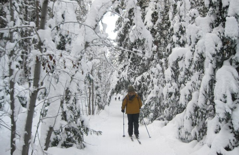 Skiing near Three Rivers Resort.